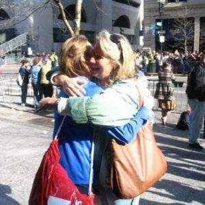 Erin McGuirk's memories of her mother, Eileen McGuirk (at right) inspire her training for this year's Boston Marathon.