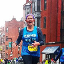 Meghan Connors also ran the 2015 Boston Marathon to benefit Mass General pediatric cancer programs.