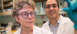 Elizabeth Hohmann, MD,and Hamed Khalili, MD, MPH, have collaborated on Mass General microbiome research involving the development of a stool transplant pill.