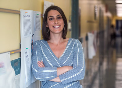 Bobbie Finocchio is back at work as a school principal after Mass General doctors treated the imbalance of microbes in her gastrointestinal tract.