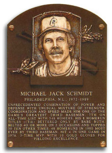 Mike Schmidt was inducted into the Baseball Hall of Fame in 1995.