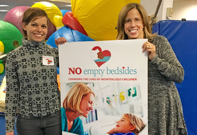 No Empty Bedsides fundraisers Naama Kanarek, PhD (left) and Sylvia Haber.