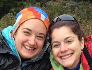 Renee Salas, MD (left), and Lara Phillips, MD, are in Nepal helping to care for the injured.