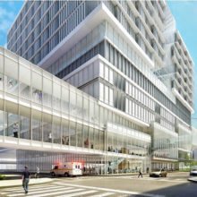 The proposed new building's view from North Grove Street (rendering courtesy of NBBJ)