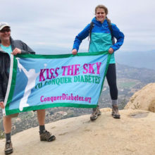 Rick Noble, often accompanied by daughter, Sarah (right), has climbed more than a dozen summits to fundraise for the diabetes research of Denise Faustman, MD, PhD.