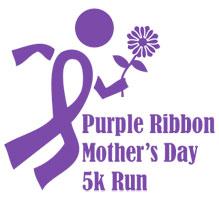Purple Ribbon Run logo
