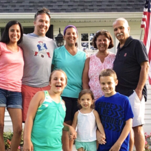 Palliative care was invaluable to Dan Moran Sr. (back row, far right) and his family: (back row, from left) daughter-in-law Marie Moran, son Daniel Moran II, daughter Katie Moran Ellis and wife Fran, (front row, from left) grandchildren Makayla Ellis, Gracie Moran and Zachary Ellis.