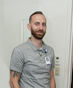 Recovery coach Michael Phillips treats addiction patients