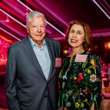 Jerry and Phyllis Rappaport at a 2019 donor event prior to the COVID-19 pandemic. The Rappaports support Mass General researchers.