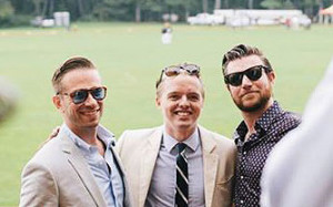Those attending 2014 VIC Myopia Polo event included, from left, Seth Hardy, event co-leader Alex Ingram and Jeff Kennedy.