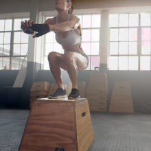 Exercises like jump squats can help you improve your muscle power.