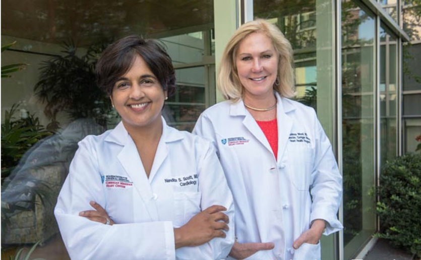 Nandita Scott, MD (left), and Malissa Wood, MD, co-directors of  the Corrigan Women's Heart Health Program