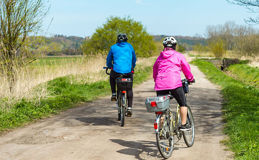 Patients diagnosed with rheumatoid arthritis can use exercise such as bicycling to help them feel better.
