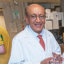Rakesh Jain, PhD (center), recently became the first Mass General investigator to win the National Medal of Science.