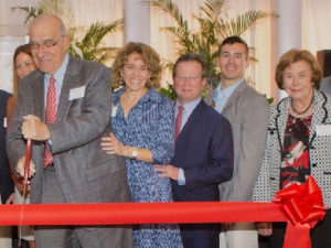 From left, Arthur Epstein, Lauren Rubin, Mark Rubin, J.B. Nadal and Bryna Litchman at the Sept. 10 dedication ceremony.