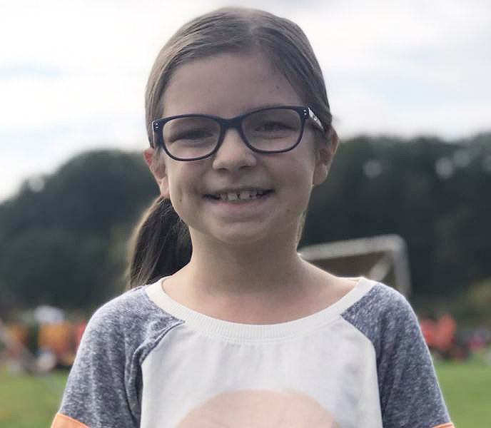 Despite the pain and uncertainty of a brain tumor, Olivia Silva has remained cheerful and optimistic, inspiring those around her.