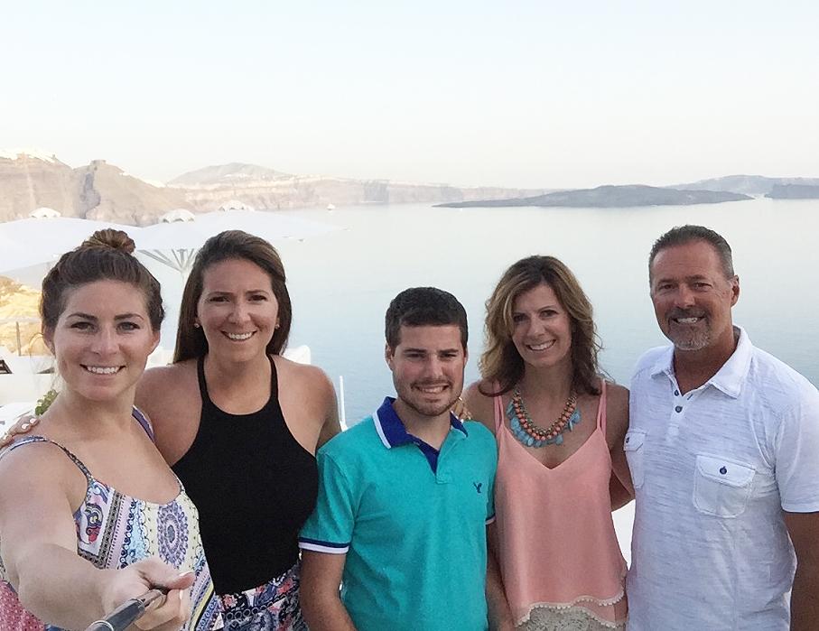From the left, Kaitlin, Jordan, Michael, Jodi and Mark Sampson