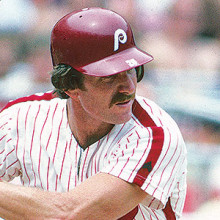 A powerful slugger, Mike Schmidt led the National League in home runs for eight seasons. (photo courtesy of National Baseball Hall of Fame).