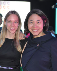 Arielle Densen, left, with Lecia Sequist, MD. Arielle was honored as an advocate at the one hundred gala this year.