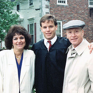 Brian Silber with his parents, Karen Silber and Jason Silber.