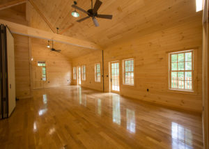 A large room in the Simches Family Pavilion provides plenty of space for camp activities.