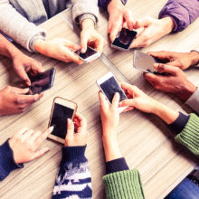 A recent study found that smartphones play an important positive and negative role in everyday behaviors and interactions.