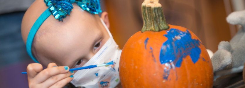 Patient Enjoying Spirit Halloween Program