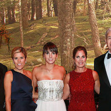 Enjoying the 2016 Storybook Ball are (from left) Rachel Goldstein; Allan Goldstein, MD; co-chairs Paige Sutphin, Tiffany Ortiz and Demi Isenstadt; Ron Kleinman, MD; and Martha Kleinman.