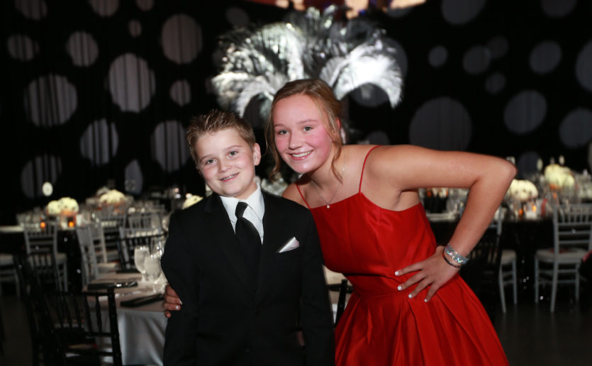 The star of the 2018 Storybook Ball was patient Jett Rehm (pictured with his sister, Ali) whose successful treatment for bipolar disorder was profiled in a featured video.