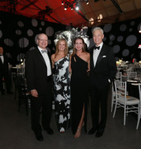 From left, MGHfC Surgeon-in-Chief Allan Goldstein, MD; Storybook Ball co-chairs Sonja Kelly and Jen Dolins, MGHfC Physician-in-Chief Ronald Kleinman, MD