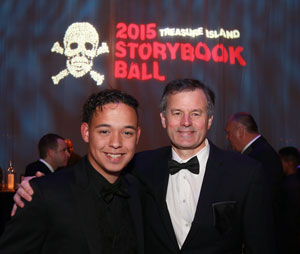 Josh and Dr. Butler at the 2015 Storybook Ball, an annual fundraiser for MGHfC