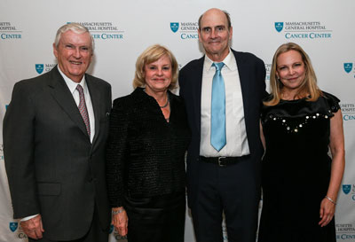 From left, Jack Connors, Eileen Connors, James Taylor and Kim Taylor at the A Decade of Discovery gala benefiting the Mass General Cancer Center