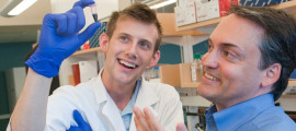 Todd Allen, PhD (right), has focused his HIV vaccine research on overcoming the ability of the virus to mutate.