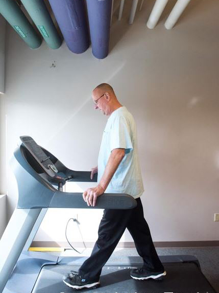 Since his heart transplant, Dennis Kaminski has participated in a cardio rehabilitation program.