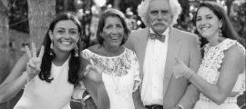 Caroline, Margot, Thomas and Kirsten Vaughan together last summer. ALs research