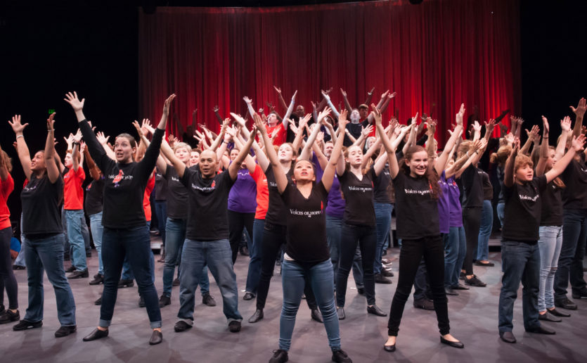Voices of Hope, shown here in a 2015 performance, is celebrating its 10th anniversary of raising funds for targeted cancer research.