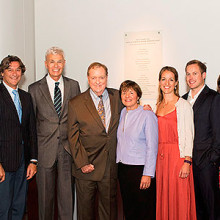 Drs. Fasano, Kleinman and Walker (fifth, sixth and seventh from left, respectively) with members of the Fasano and Walker families.
