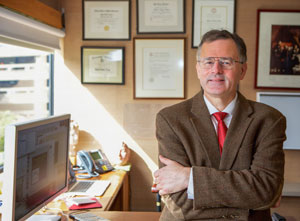 MGHfC neurosurgeon William Butler, MD, in his office.