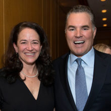 Merit Cudkowicz, MD, MSc, director of the Sean M. Healey & AMG Center at Mass General, and donor Sean M. Healey, for whom the center is named.