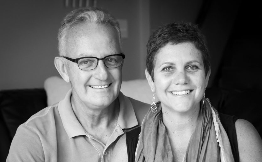 """""""Now, I can use my experience to help others,"""" says Judy Johanson, pictured with her late husband, Steve, who had early onset Alzheimer's disease. She now works with the Mass General Caregiver Support Program."""