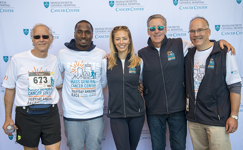 Dr. Howard Weinstein, Dion Lewis, Jenny Johnson, Billy Costa and Dr. Daniel Haber after the Everyday Amazing Race.