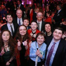 Celebrants at the 19th annual Aspire Spring Gala.  The Aspire program helps children, teens and adults with high cognitive autism spectrum disorder and related profiles develop the skills necessary to be successful in their communities and workplaces.