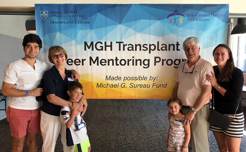 The Sureau family launched and will sustain the MGH Transplant Peer Mentoring Program, in memory of beloved son and brother, Michael.