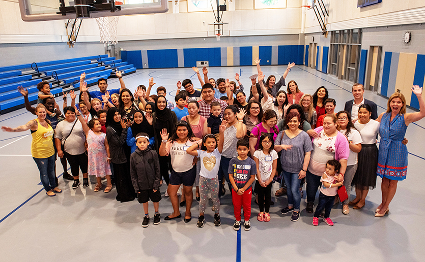 Chelsea families joined community leaders, Mass General representatives and corporate supporters at Clark Avenue School to celebrate summer with a focus on healthy living.