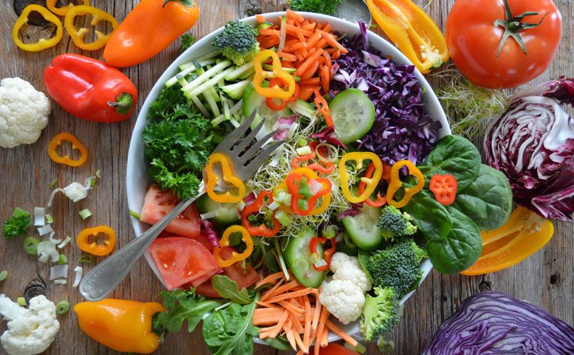 A presentation of healthy vegetables