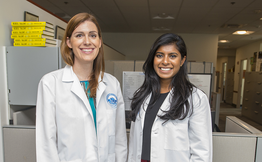Andrea Axtell, MD (left), and Philicia Moonsamy, MD, are recipients of two new Mass General fellowships designed to encourage more women to consider careers as cardiac surgeons.