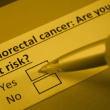 Patients should talk to their doctor about colorectal cancer screening.