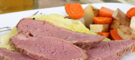 Filling at least half your plate with vegetables will help offset the sodium in the corned beef on St. Patrick's Day.