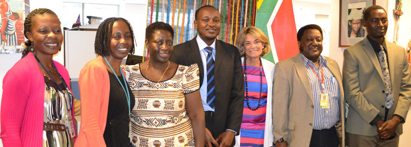 Pat Daoust (third from right) with her Seed Global Health colleagues.