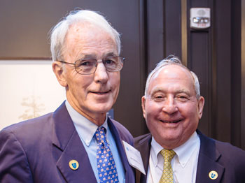 James Dineen, MD, left, and Peter Lunder
